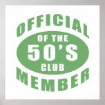 50.o Miembro del funcionario del cumpleaños Impresiones