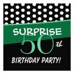 50.o Modelo de lunar del cumpleaños de la sorpresa Invitacion Personal