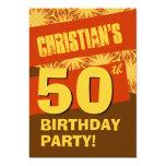 50.o Moreno y Brown modernos V06 de la fiesta de Invitación 12,7 X 17,8 Cm