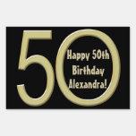 50.o Muestra de encargo de la yarda del cumpleaños
