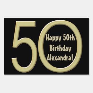 50.o Muestra de encargo de la yarda del cumpleaños Señales