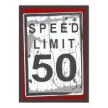 50.o Muestra sucia del límite de velocidad de la Invitación Personalizada