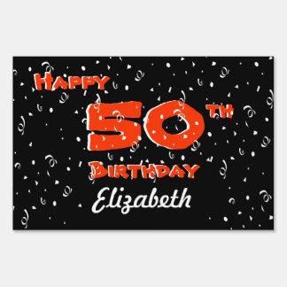 50.o Muestras de la yarda del cumpleaños Cartel