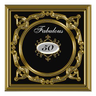 50.o negro de la invitación del cumpleaños