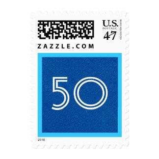 50.o Número rayado V33 de la fiesta de cumpleaños Timbre Postal