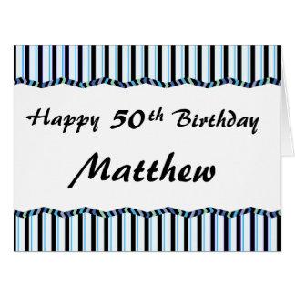 50.o o cualquier edad Cumpleaños-GRANDE Tarjetón