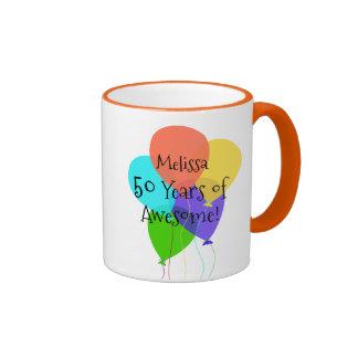 50.o o cualquier regalo de cumpleaños conocido taza de dos colores