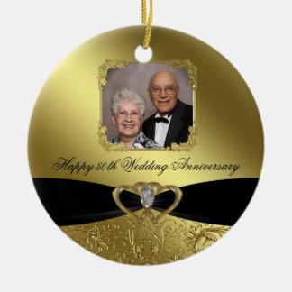 50.o Ornamento de la foto del aniversario de boda Ornamento De Navidad