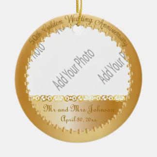 50.o Ornamento de la foto del aniversario de boda Adorno De Reyes