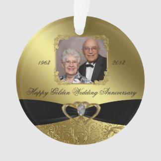 50 o Ornamento del acrílico de la foto del anivers