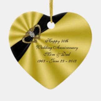 50 o Ornamento del aniversario de boda Ornaments Para Arbol De Navidad