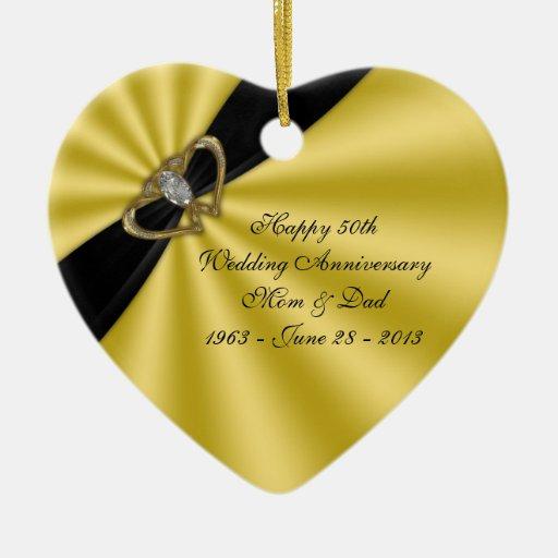50.o Ornamento del aniversario de boda Ornaments Para Arbol De Navidad