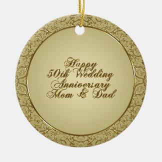 50.o Ornamento del aniversario de boda Ornamentos Para Reyes Magos