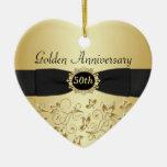 50.o Ornamento del navidad del aniversario de boda Ornatos
