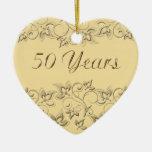 50.o Ornamento del recuerdo del aniversario de bod Ornamento Para Arbol De Navidad