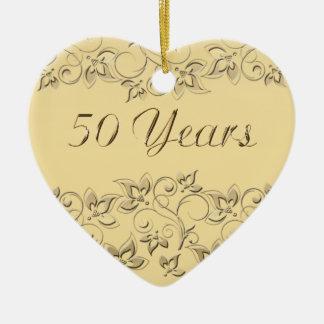 50.o Ornamento del recuerdo del aniversario de Ornamento Para Arbol De Navidad