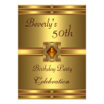 50.o Oro de la fiesta de cumpleaños en el oro Comunicado Personal