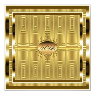 50.o oro de la invitación de la fiesta de