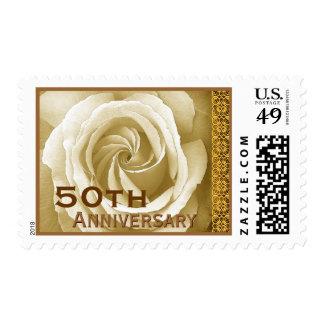 50 o Oro de la marfil del sello del rosa de la inv