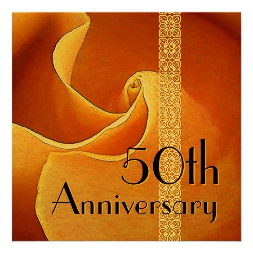50.o Oro subió aniversario metálico Anuncios
