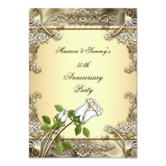 50.o Oro subió crema del boda del aniversario