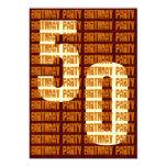 50.o oro y Brown W1047 del cumpleaños del Grunge Anuncios Personalizados