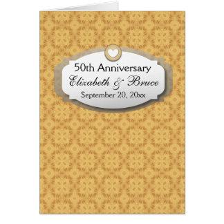 50.o Oro Z05 del aniversario de boda del Tarjeta Pequeña