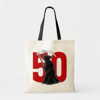 50.o Parca divertido del cumpleaños Bolsa Lienzo