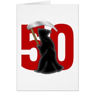 50.o Parca divertido del cumpleaños Felicitación