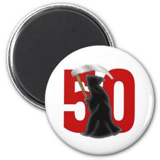 50.o Parca divertido del cumpleaños Imán De Frigorífico