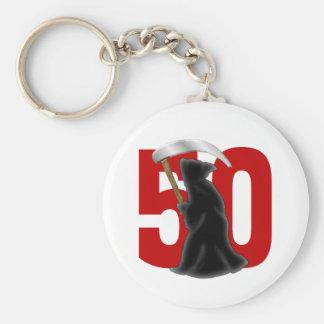 50.o Parca divertido del cumpleaños Llaveros Personalizados