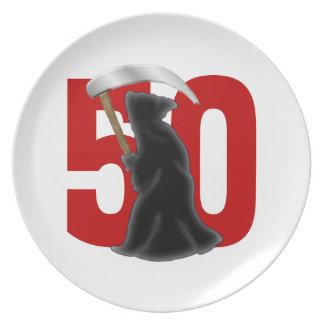 50.o Parca divertido del cumpleaños Platos Para Fiestas