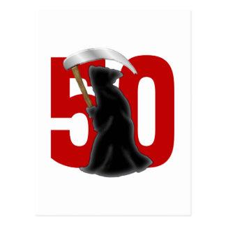 50.o Parca divertido del cumpleaños Postal
