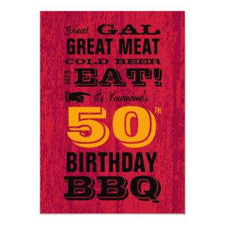 50.o Parrilla del Bbq del cumpleaños hacia fuera Anuncios Personalizados