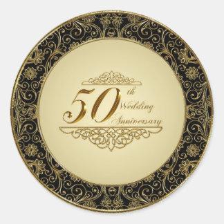 50 o Pegatina del aniversario de boda