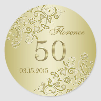 50.o pegatina del cumpleaños de los remolinos