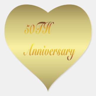 50.o Pegatina del oro del aniversario