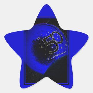 50.o pegatina feliz del cumpleaños