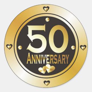 50 o Pegatinas del aniversario