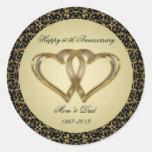 50.o Pegatinas del aniversario de boda Etiqueta Redonda