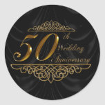 50.o Pegatinas del aniversario de boda Etiquetas Redondas