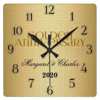 50.o Personalizado de Annivsersary del boda de oro Relojes