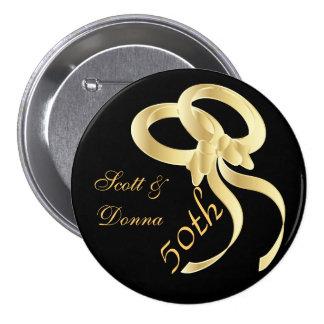 50 o Pin de oro del botón del aniversario