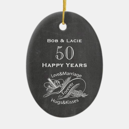 50.o Pizarra del vintage del aniversario Ornamento De Reyes Magos