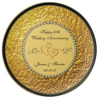 50.o Placa decorativa del aniversario de boda de Plato De Cerámica