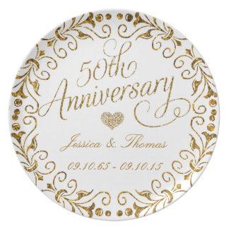 50.o Placa decorativa del aniversario de boda de Platos