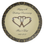 50.o Placa del aniversario de boda Platos Para Fiestas