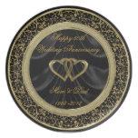 50.o Placa del aniversario de boda Plato De Comida