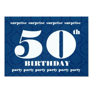 50.o Plantilla de la fiesta de cumpleaños de la Invitación 12,7 X 17,8 Cm