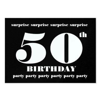 50.o Plantilla de la invitación de la fiesta de